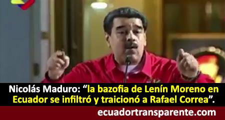 Nicolás Maduro llamó «bazofia» a Lenín Moreno (Video)