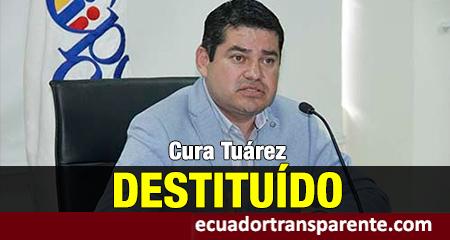 Cura José Tuárez y otros 3 consejeros del CPCCS fueron destituídos por atribuirse funciones