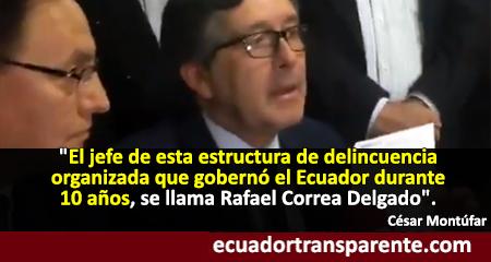 Fernando Villavicencio y César Montúfar presentan acusación particular contra Rafael Correa
