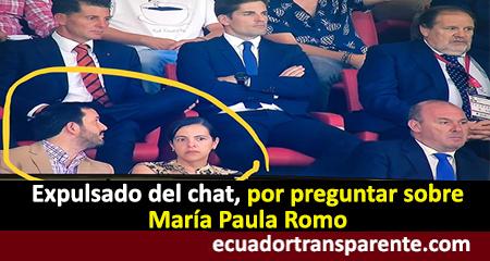 Expulsan a periodista de chat informativo por preguntar sobre María Paula Romo e Iván Granda