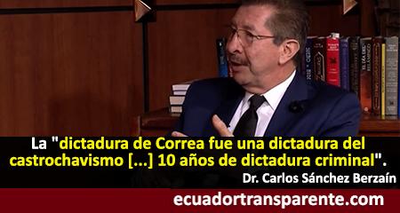 Carlos Sánchez Berzaín: Correa es un agente del castrochavismo que se tomó el Ecuador (Video)