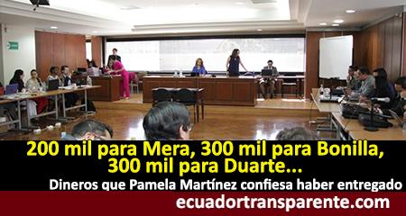 Pamela Martínez confiesa cantidades de dinero que habría entregado a varios funcionarios