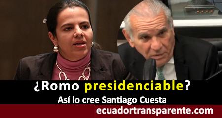 Santiago Cuesta cree que María Paula Romo es presidenciable