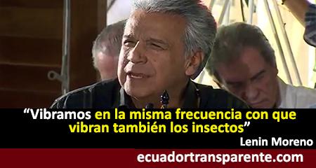 Lenín Moreno dice que vibramos en la misma frecuencia que los insectos (Video)