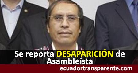 Asambleísta Pedro Curichumbi, contrario a despenalizar aborto, se encuentra desaparecido