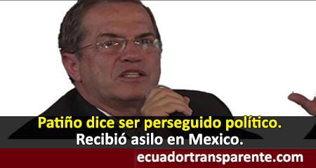 Ricardo Patiño recibe asilo en México