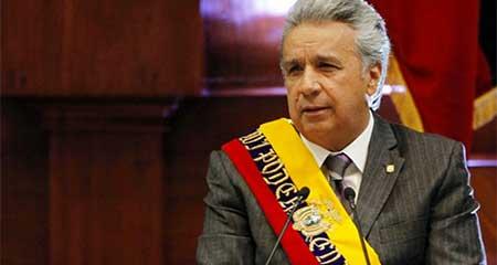 Lenín Moreno sincera la economía de Ecuador y soporta la sedición del castrochavismo