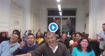 Rafael Correa descaradamente le dedica esta canción a Lenin Moreno y llama a los ecuatorianos a salir a las calles