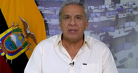 Lenín Moreno señala a Correa, a Maduro y al narcoterrorismo, de la violencia que vive el Ecuador