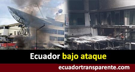 Así fue el ataque a la Contraloría, Teleamazonas, y diario El Comercio