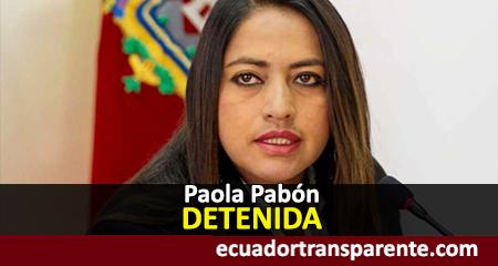 Paola Pabón detenida tras violentas protestas en Quito