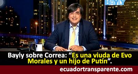 Jaime Bayly se burla de Rafael Correa y lo denomina «la viuda de Morales» (Video)