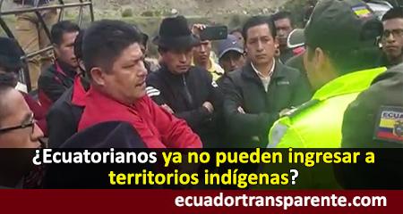 Jaime Vargas e indígenas no permitieron paso de autoridades a lo que consideran sus territorios (Video)