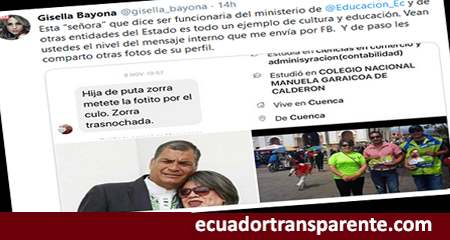 Periodista Gisella Bayona denuncia insultos emitidos por exfuncionaria del Ministerio de Educación
