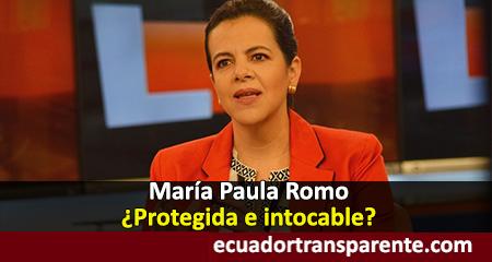 Juicio político contra María Paula Romo por abuso de bienes públicos e inseguridad fue archivado