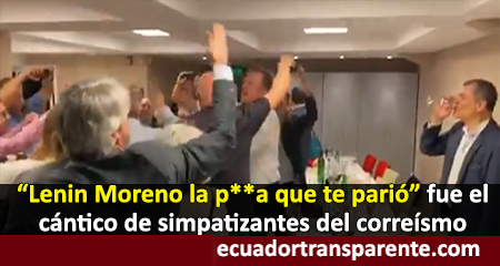 Grupo de argentinos insultan a Lenin Moreno, mientras Correa ríe