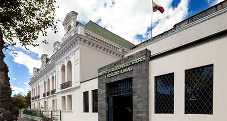Ecuador responde acusación de Jorge Rodríguez, ministro de la dictadura de Maduro