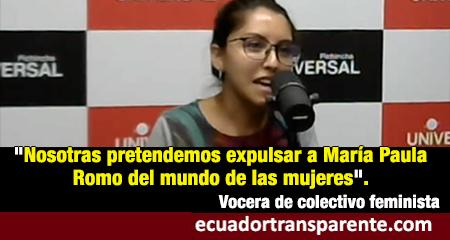 Feministas acusan a María Paula Romo de muertes en octubre y plantean «expulsarle del mundo de las mujeres»