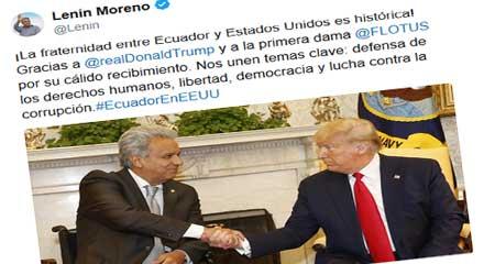 Lenín Moreno pasó de simpatizante de Fidel Castro a reunirse con Donald Trump