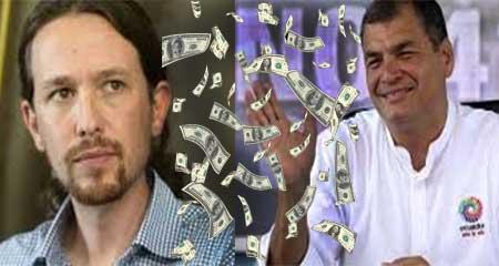 Denuncian que Rafael Correa habría financiado con 54 millones a Podemos de España