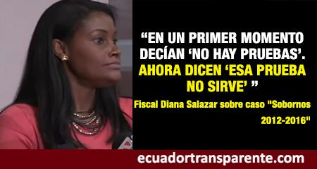 Fiscal Diana Salazar afirma que se ha probado que existió una estructura criminal en el gobierno de Rafael Correa (Video)