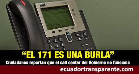 Quejas ciudadanas de que línea 171, el call center para atender casos de coronovirus, no funciona