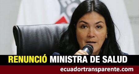 Renuncia ministra de Salud Catalina Andramuño. Juan Carlos Zevallos, asume el cargo.