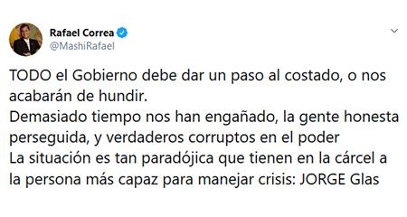 En medio de la crisis por Coronavirus, ¿Correa está más preocupado por recuperar el poder?