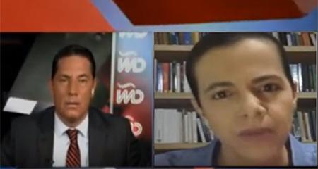 María Paula Romo no pudo responder preguntas de periodista del Rincón, en CNN, sobre manejo de crisis por coronavirus