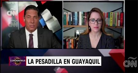 No todo son noticias falsas como dice la ministra Romo: CNN recoge la noticia de los cadáveres en las calles de Guayaquil