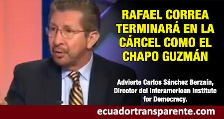 Director del Interamerican Institute for Democracy señala a Rafael Correa como parte de un cartel criminal junto con Nicolás Maduro