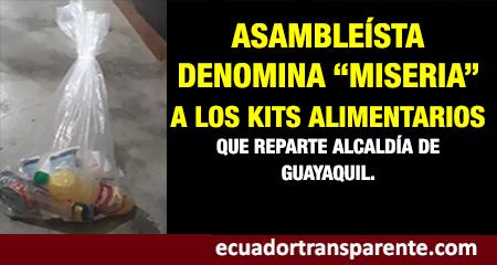 Asambleísta se queja por kits de alimentos que entrega Alcaldía de Guayaquil (Video)