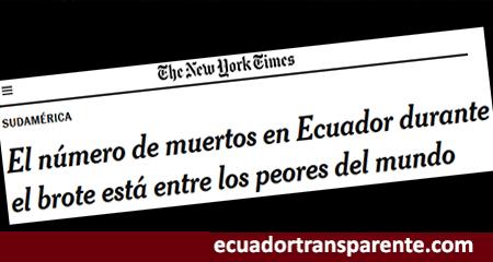 New York Times menciona que Ecuador está entre los peores del mundo por muertes de coronavirus