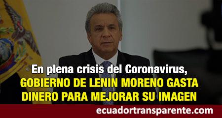 Gobierno de Lenín Moreno contrató compañia de publicidad para mejorar su imagen