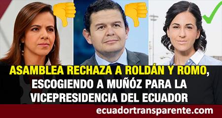 María Alejandra Muñoz, nueva vicepresidente del Ecuador