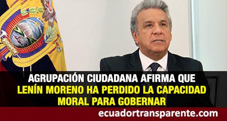 Coalición ética y política, hace un fuerte llamado de atención al gobierno de Lenín Moreno.