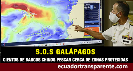 Con el hashtag #SOSGALAPAGOS se denuncia pesca de barcos chinos cerca de Galápagos