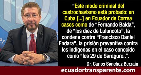 Correa convirtió al Ecuador en narcoestado y su sistema judicial fue usado para perseguir, señala Director del Interamerican Institute for Democracy