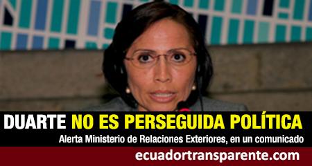 Ecuador alertó a Argentina que exministra María de los Ángeles Duarte fue sentenciada por el caso Sobornos