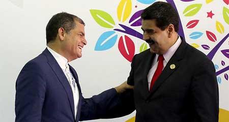 Nicolás Maduro sigue enviando cheques con dinero venezolano a Rafael Correa