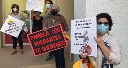 Rechazan en Miami designación de nuevo Cónsul cercano a los Alvarado y con «demandas por temas económicos», según manifestantes.