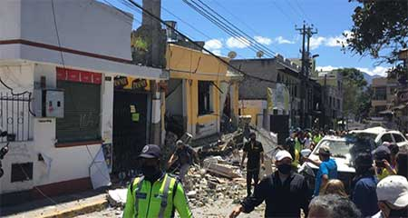 Se registra fuerte explosión en el centro de Cumbayá