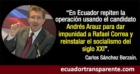 El castrochavismo repite en las elecciones de Ecuador su operación en Argentina y Bolivia