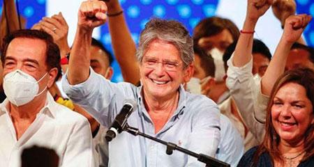Guillermo Lasso, es el nuevo presidente del Ecuador.