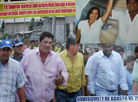 Difunden imágenes de Marco Solís con Cuero, Calahorrano y Duarte