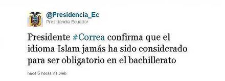 Tweet de Correa causa humor en la red