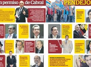 Gobierno llama pendejos a opositores, en su diario