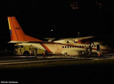 Incidente de avión del Ejército obliga a cierre temporal del aeropuerto de Quito